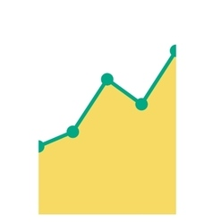 Business graph going up vector