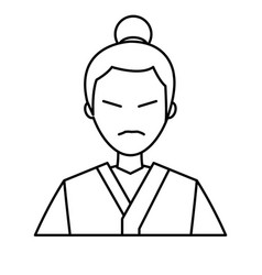 Character japanese man clothes culture line vector