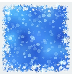 Christmas and New Year blue blurry background vector image vector image