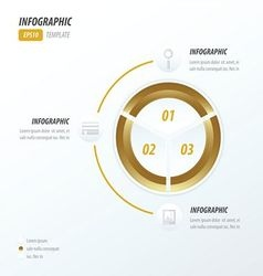 Circle infographic 2 color Golden color vector image vector image