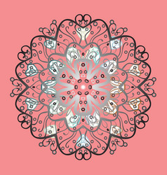 Coloring pages zentangle elegant snow flake vector