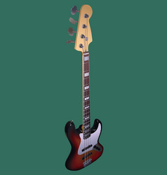 Electric bass vector