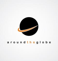 globe round logo vector image