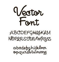 handwritten alphabet letters abc for your vector image vector image