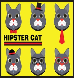 Hipster Cat vector image vector image