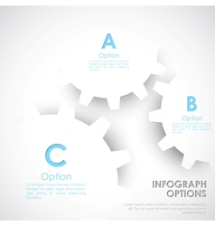Infographics options banner vector