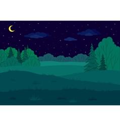 landscape summer forest glade vector image vector image