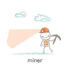 miner looking minetaly vector image