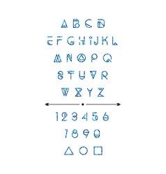 Modern hipster font vector