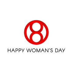 red circle shape happy international womens day vector image vector image