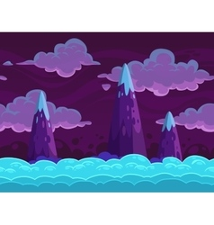 Seamless cartoon horizontal cloudscape vector image vector image