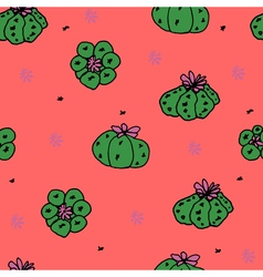 Seamless pattern with cactus peyote vector