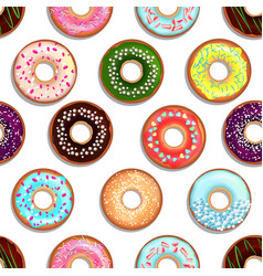 seamless pattern with tasty foods desserts vector image vector image