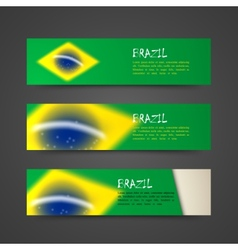 Set of banners with watercolor effect in brazil vector