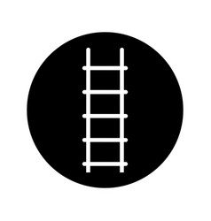 Stair up isolated icon vector