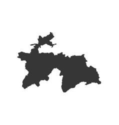 Tajikistan map silhouette vector