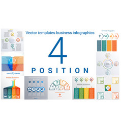 templates business infographics 4 positions vector image vector image
