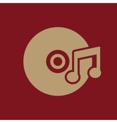 The music icon disc symbol flat vector