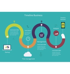Timeline Infographic business vector image vector image