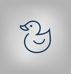 web line icon rubber duck vector image vector image