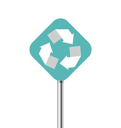 Recycling center road pointer vector