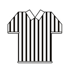 Referee jersey stripes american football outline vector