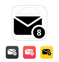 Mail with numbers icon vector