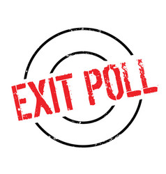 Exit poll rubber stamp vector