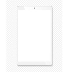 Realistic tablet portable computer mockup vector