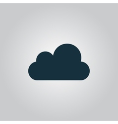 Cloud icon easy to edit vector