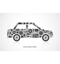 Set of auto spare parts vector