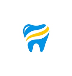 Dentist abstract health care medic logo vector
