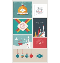 New year and christmas greeting cards and banners vector