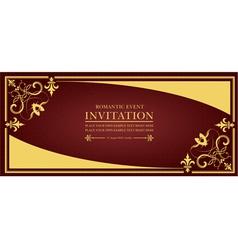 al 0649 invitation 01 vector image vector image