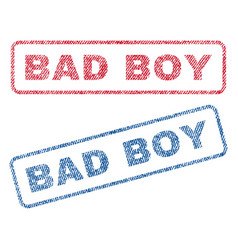 Bad boy textile stamps vector