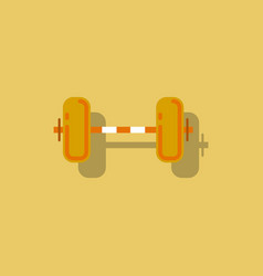 Barbell weight in sticker style vector