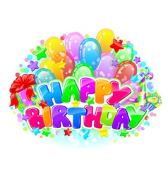 Birthday bright composition vector