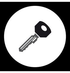 Black isolated simple modern door key icon eps10 vector