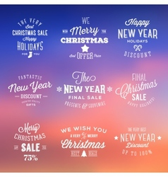 Christmas and New Year Vintage Sales Typography vector image vector image