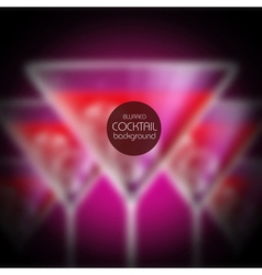 Cocktail blurred background vector image vector image