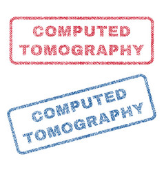 Computed tomography textile stamps vector