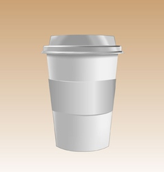 cup mockup vector image vector image