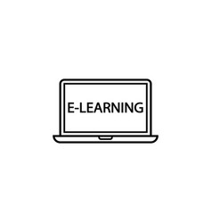 E-learning line icon education and school element vector