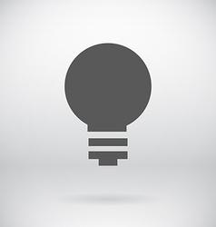 Flat save energy bulb light icon symbol background vector
