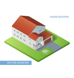 House and building vector image