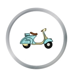 Italian scooter from Italy icon in cartoon style vector image vector image