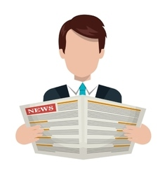 Journalism and news graphic design vector image