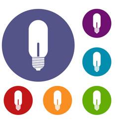 light bulb icons set vector image vector image