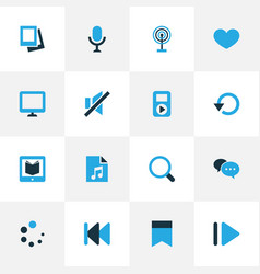 Media colorful icons set collection of chatting vector