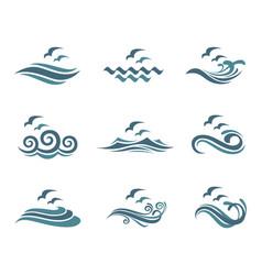 ocean logo set vector image vector image